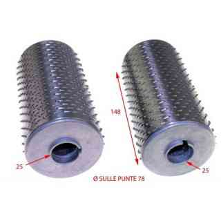 fame grater roller complete with 78 x 148 stainless steel flanges