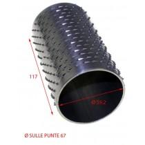 RULLO GRATTUGIA 67 X 117 INOX