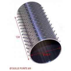 RULLO PER GRATTUGIA 69 X 134 IN ACCIAIO INOX