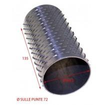 RULLO GRATTUGIA 72 X 135 INOX
