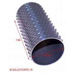 RULLO PER GRATTUGIA 74 X 146 IN ACCIAIO INOX