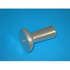 manopola pressamerce con flangia silver mod. 195/22/25/275 silver vite m10/m6