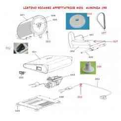(009) LAMA 190 mm LISCIA X MOD. AUSONIA 190