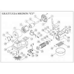 ( 7 ) carcassa motore