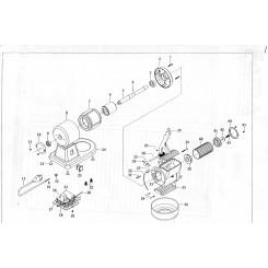 (8) carcassa motore grattugia 8g/07