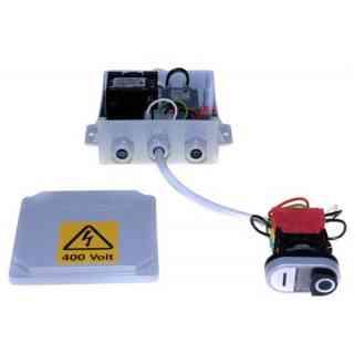 scheda 220/380v max 3cv scatola+pulsanti