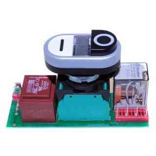 scheda 230v mod tg00led ls con pulsante e trasformatore montato