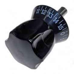 manopola graduata orologio con perno diametro 12mm lunghezza 48mm mascherina nera per rgv