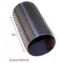 RULLO PER GRATTUGIA 88 X 160 IN ACCIAIO INOX