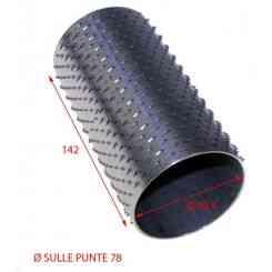 RULLO GRATTUGIA 78X142 INOX INTERNO 70,4MM
