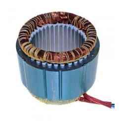 avvolgimento statore pacco 60 altezza lamellare 60mm 380 volt diametro esterno 125mm