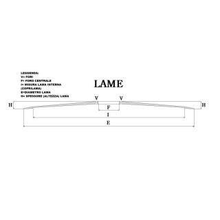 RICAMBIO LAMA PER AFFETTATRICE 350/40/3/280/22,5 C45
