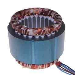 avvolgimento statore pacco 60 lamellare altezza 60mm trifase 380 volt 4 poli diametro esterno ø 130mm