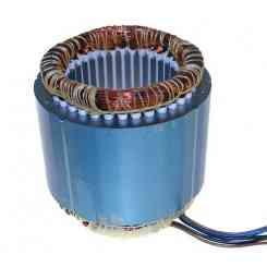 avvolgimento statore pacco c80/80 altezza lamellare 80mm 230 volt giri 1400 watt 385 cl.f diametro esterno ø 125mm