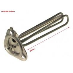 resistenza elettrica 2700w 230v fl rot ø48 l280 boiler completa di flange, morsetti e guarnizioni