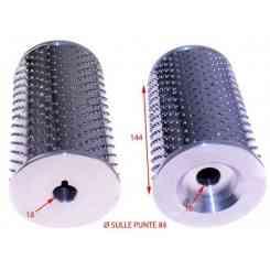 RULLO PER GRATTUGIA AMB COMPLETO DI FLANGE 84X143mm INOX