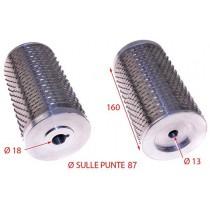 RULLO GRATTUGIA C/FLANGE 87X160 INOX MINERVA