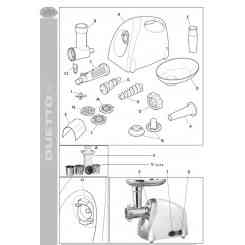 (V) MOUTH ACCESSORY FOR DUETTO PLUS GRATER