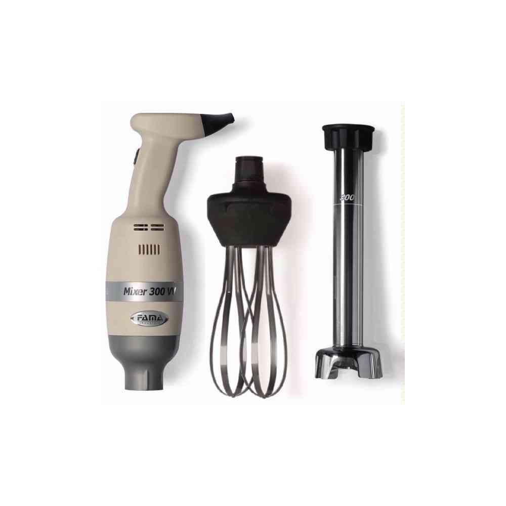 MIXER 300 Watt - Linea Light - Velocità VARIABILE Combi Frusta e Mescolatore da 300 mm