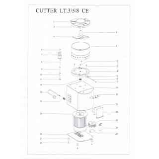 coperchio plastica cutter 3 litri fama