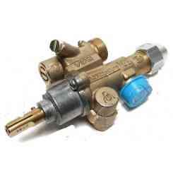RUBINETTO GAS TIPO PEL MOD. 22S/O ENTRATA Ø M20X1.5 USCITA Ø M20X1.5 ATT.TERMOCOPPIA M9X1 Ø PERNO 10X8