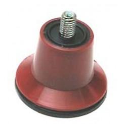 piedino ventosa famiglia d.6 mm ma rosso per affettatrice (pz4)
