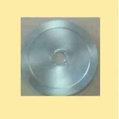 lama per affettatrice 350 diametro 35cm foro centrale 57mm quattro fori materiale 100cr6