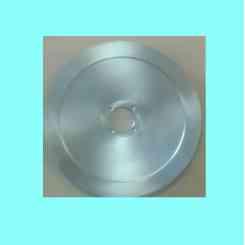 lama per affettatrice 370 diametro foro centrale 57mm viti 4 diametro paralama 290mm altezza 23mm materiale 100 cr6