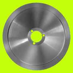 BLADE FOR SLICER 300 DIAMETER 30CM CENTRAL HOLE 40MM THREE HOLES C45 DAMPA ESSEDUE OMAS MOBBA