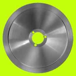 lama per affettatrice 300 diametro 30cm foro centrale 40mm tre fori 100cr6