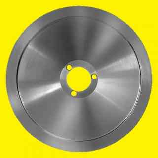 lama per affettatrice 330 diametro 33cm foro centrale 40mm tre fori  100cr6 altezza 21mm