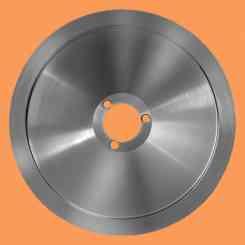 lama per affettatrice 220 diametro 22cm tre fori foro centrale 40mm rgv e altre materiale c45