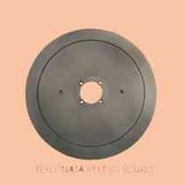 LAMA PER AFFETTATRICE 250 /40/3/210/17,5 C45 PTFE PELTRO SCURO (TEFLONATA)