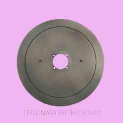 lama per affettatrice 275 diametro 27,5cm /40/3/218/21,5 c45 ptfe peltro scuro teflonata