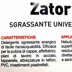 Zator HACCP energetic universal degreasing detergent for meat mincers, grater and steel tops