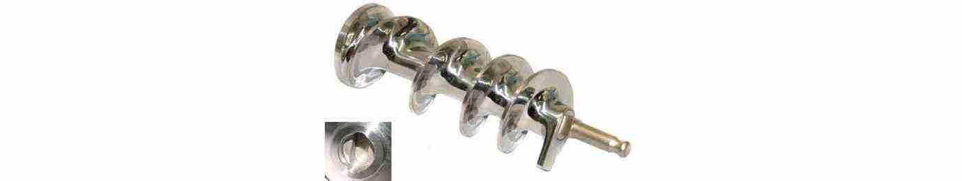 coclea per tritacarne in acciaio inox alluminio