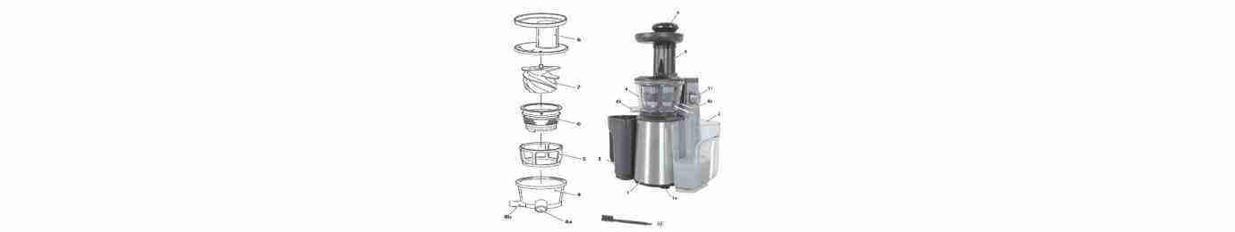 ricambi per estrattore succo juice art rgv e new