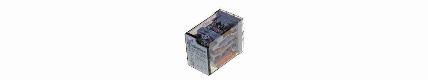 rele' commutatore a comando elettrico per la chiusura o l'apertura semiautomatica di un circuito.
